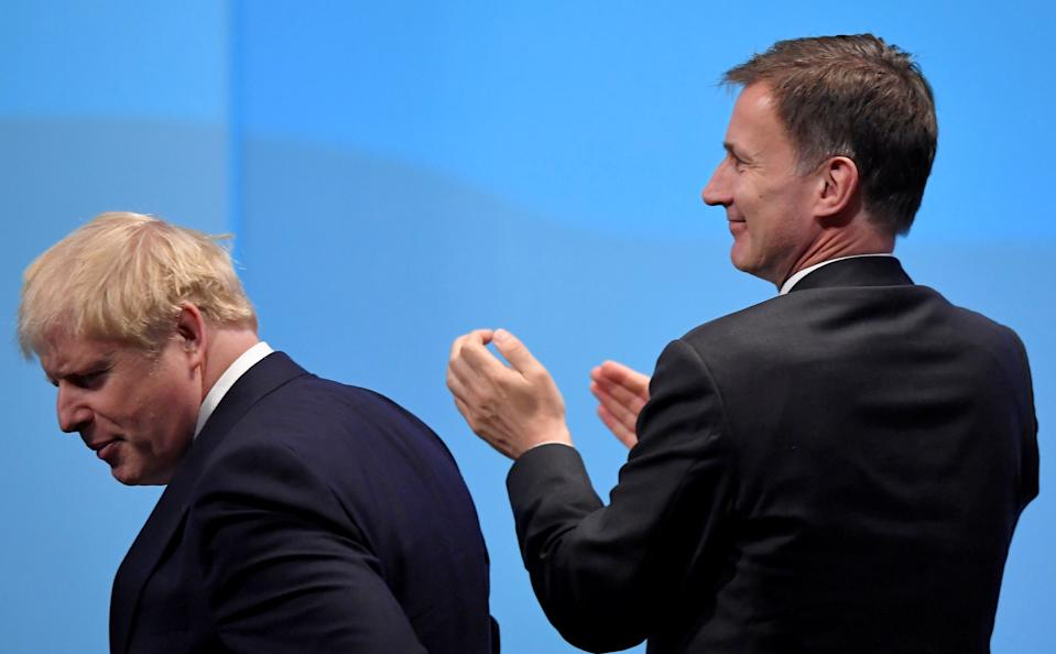 Jeremy Hunt reacts after the announcement of Boris Johnson as Britain's next Prime Minister (Picture: Reuters)