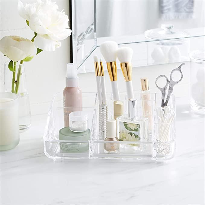 AmazonBasics Square Acrylic Cosmetic Makeup Organizer Storage. (Image via Amazon)