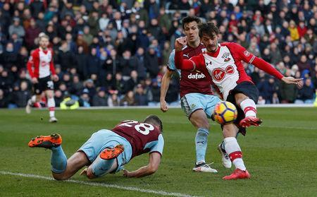 Soccer Football - Premier League - Burnley vs Southampton - Turf Moor, Burnley, Britain - February 24, 2018 Southampton's Manolo Gabbiadini scores their first goal REUTERS/Andrew Yates
