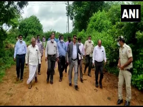 A team led by DC Davanagere, Mahantesh Bilagihe visited the area (Photo/ANI)