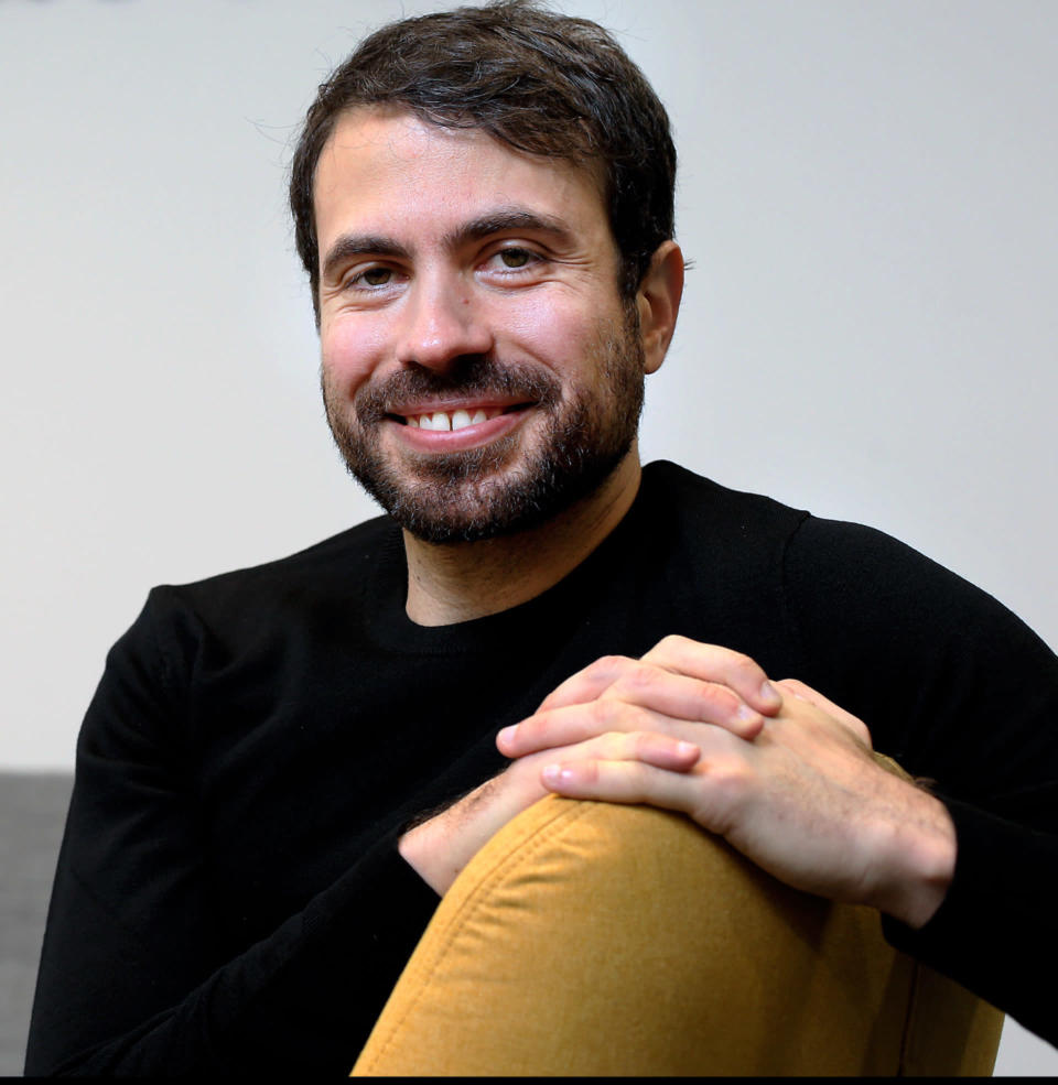 """This undated photo provided by Steve Humphreys shows Justin Rosenstein. Justin Rosenstein, Tristan Harris and Philip Clayton wrote essays for the book, """"The New Possible"""". """"The New Possible,"""" is a collection of thought-provoking essays exploring how society can seize upon the recent upheaval to reshape technology, the economy, the environment, the food supply, government and community so we can eventually look back at 2020 as a reawakening instead of a death rattle.(Steve Humphreys/INM via AP)"""