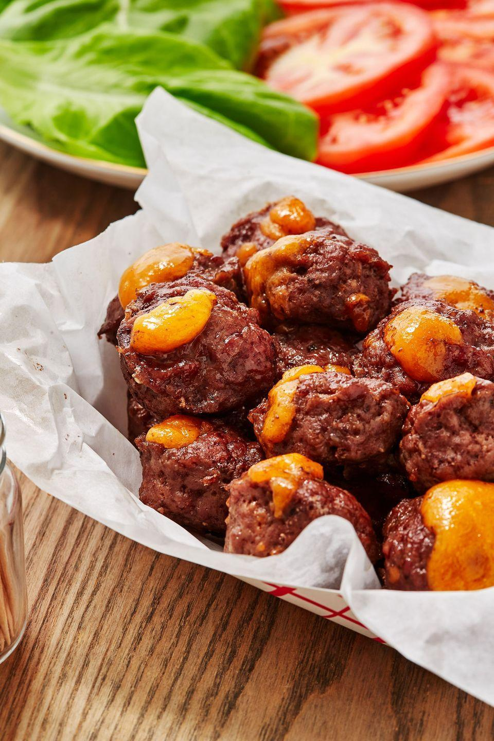 "<p>These are unbelievably rich and habit-forming.</p><p>Get the recipe from <a href=""https://www.delish.com/cooking/recipe-ideas/a22027017/keto-burger-fat-bombs-recipe/"" rel=""nofollow noopener"" target=""_blank"" data-ylk=""slk:Delish"" class=""link rapid-noclick-resp"">Delish</a>.</p>"