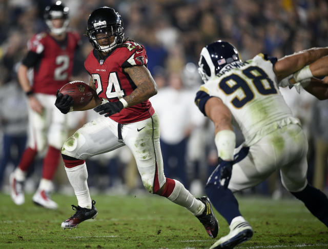 Atlanta running back Devonta Freeman is one of the main reasons the Falcons are dangerous heading into this season. (AP)