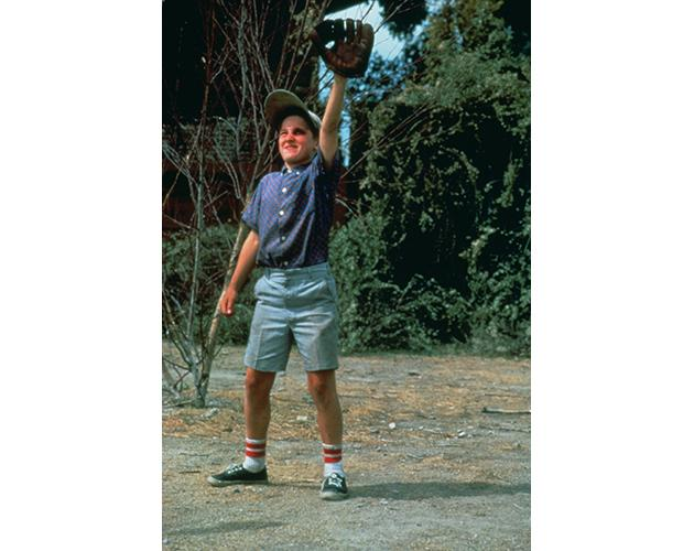 Scene: When Benny hits the ball directly into Smalls' glove to make it seem  like he knows how to catch.