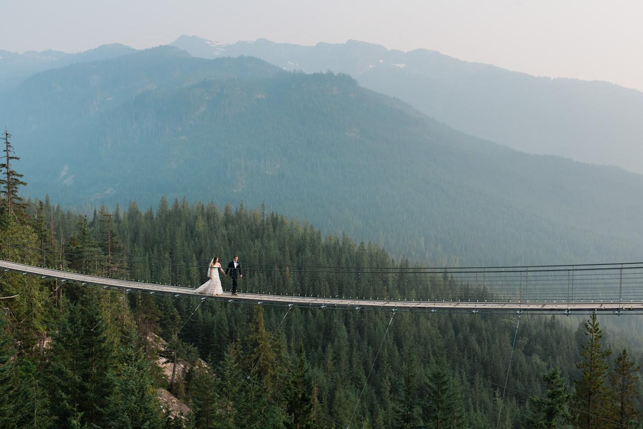 "<p>Caroline and Spencer traveled all the way from South Carolina to proclaim their love on top of a mountain in Canada. <a href=""https://www.popsugar.com/love/Sea-Sky-Gondola-Wedding-44445584"" class=""ga-track"" data-ga-category=""Related"" data-ga-label=""https://www.popsugar.com/love/Sea-Sky-Gondola-Wedding-44445584"" data-ga-action=""In-Line Links"">See the wedding here!</a></p>"