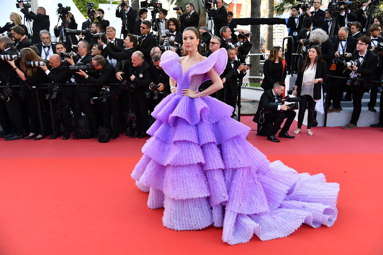 <p>Wearing Michael Cinco. <em>[Photo: Getty]</em> </p>