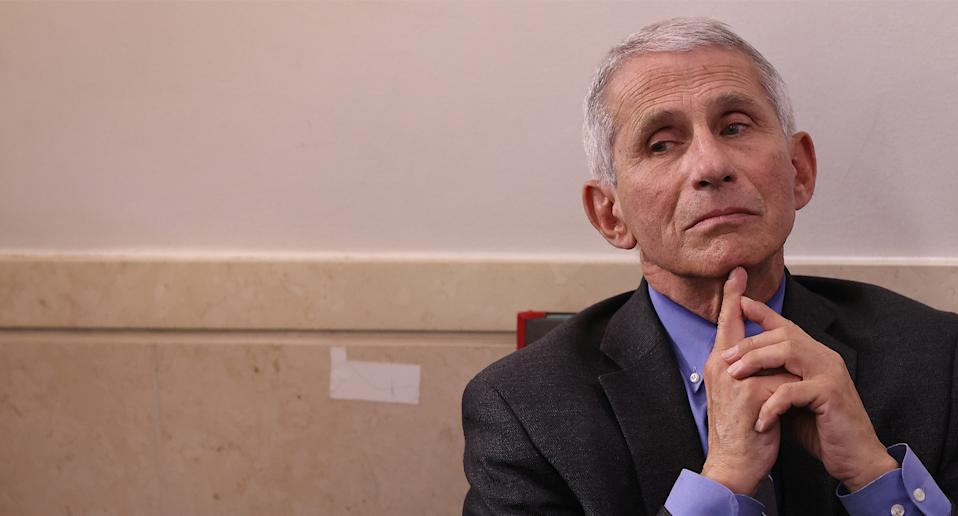 Dr Anthony Fauci said he wouldn't be surprised if the US recorded 100,000 case in one day soon. Source: Getty Images