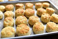 """<p>A classic biscuit recipe you can make in a flash. You don't have to be a <a href=""""https://www.thepioneerwoman.com/just-for-fun/g34980449/great-british-bake-off-contestants-then-and-now/"""" rel=""""nofollow noopener"""" target=""""_blank"""" data-ylk=""""slk:Great British Baking Show winner"""" class=""""link rapid-noclick-resp""""><em>Great British Baking Show </em>winner</a> to master it!<br> </p><p><a class=""""link rapid-noclick-resp"""" href=""""https://www.thepioneerwoman.com/food-cooking/recipes/a11845/self-rising-biscuits/"""" rel=""""nofollow noopener"""" target=""""_blank"""" data-ylk=""""slk:Get the Recipe!"""">Get the Recipe!</a></p>"""