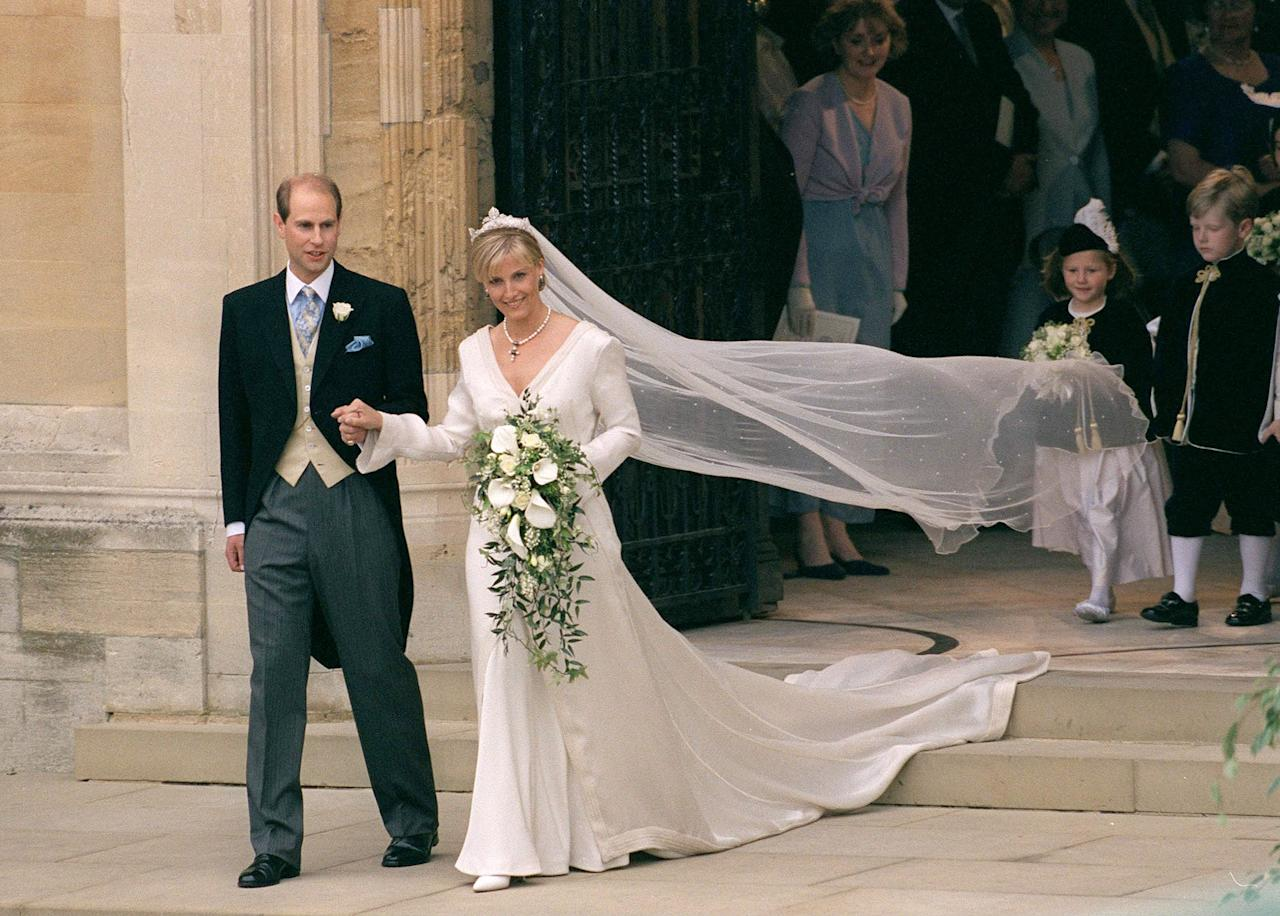 Prince Edward, 55, and Sophie, 54, tied the knot at St. George's Chapel at Windsor Castle — the same venue where Prince Harry and Meghan Markle as well as Princess Eugenie and Jack Brooksbank recently walked down the aisle.
