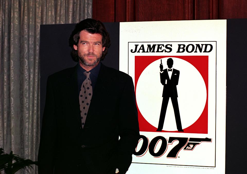 Irish actor Pierce Brosnan in London after he was named the new James Bond.   (Photo by Michael Stephens - PA Images/PA Images via Getty Images)