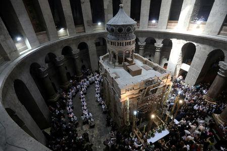 Christian leaders close church at Jesus' burial site in tax dispute