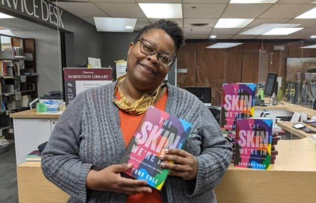 'There's a lot of stuff to talk about with this book,' says UPEI librarian Yolanda Hood, one of the organizers of P.E.I. Community Reads. (Josie Enemuoh - image credit)