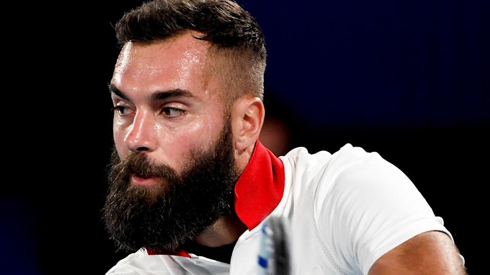 Benoit Paire has slammed Australian Open organisers following his first-round loss at the grand slam. (Photo by PAUL CROCK/AFP via Getty Images)