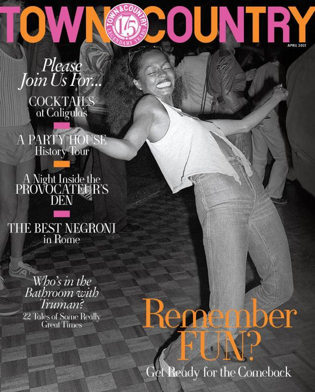 "Diana Ross at Studio 54 in 1979 on the April 2021 issue of ""Town & Country."""