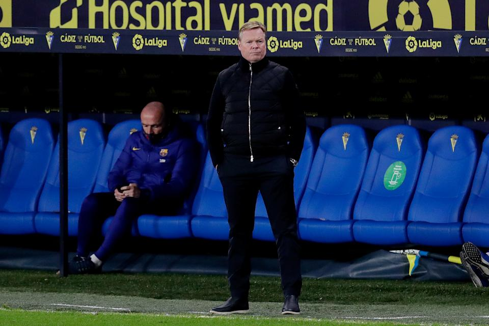 Barcelona manager Ronald Koeman has made some questionable decisions with his lineups. (Photo by David S. Bustamante/Soccrates/Getty Images)