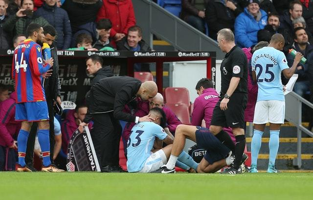 Gabriel Jesus suffered a knee injury at Crystal Palace on New Year's Eve, 2017 (Steven Paston/PA)