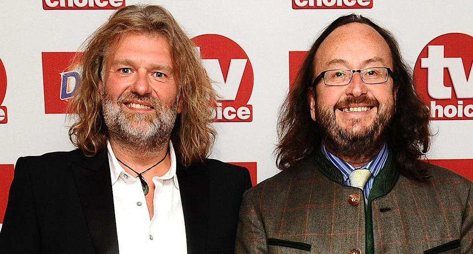 Simon 'Si' King and David Myers (Right), The Hairy Bikers, arrive at the TV Choice Awards 2012 at the Dorchester hotel in London. (Ian West/PA Archive/PA Images)