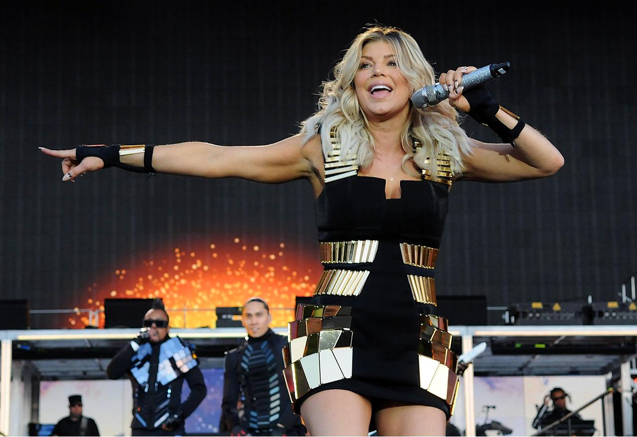 Fergie Fergie, who performed at the halftime show in 2011, was born Stacy Ann Ferguson.