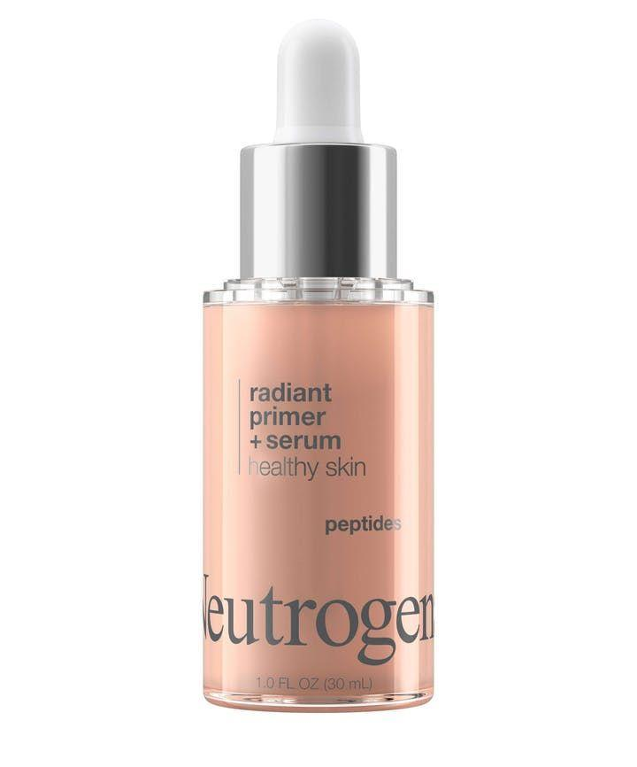 "<p><strong>Neutrogena</strong></p><p>neutrogena.com</p><p><strong>$13.59</strong></p><p><a href=""https://www.neutrogena.com/products/makeup/healthy-skin-radiant-primer-serum/6819633.html?tilePosition=8#q=primer&lang=default&start=8"" rel=""nofollow noopener"" target=""_blank"" data-ylk=""slk:Shop Now"" class=""link rapid-noclick-resp"">Shop Now</a></p><p>This primer is your best friend when you wake up looking less than well-rested. The peptides help your skin while pearl pigments give it that glow, and the non-greasy finish means it's okay for any skin type to use. </p>"