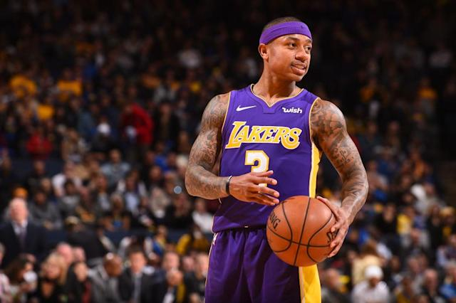 Isaiah Thomas played just 17 games for the Lakers before his hip issues flared up again. (Getty)
