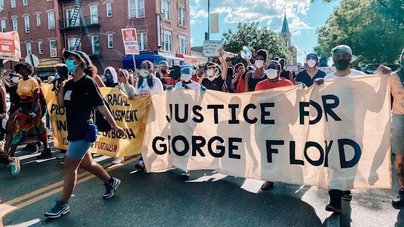 Protesters gather in Brooklyn, NY
