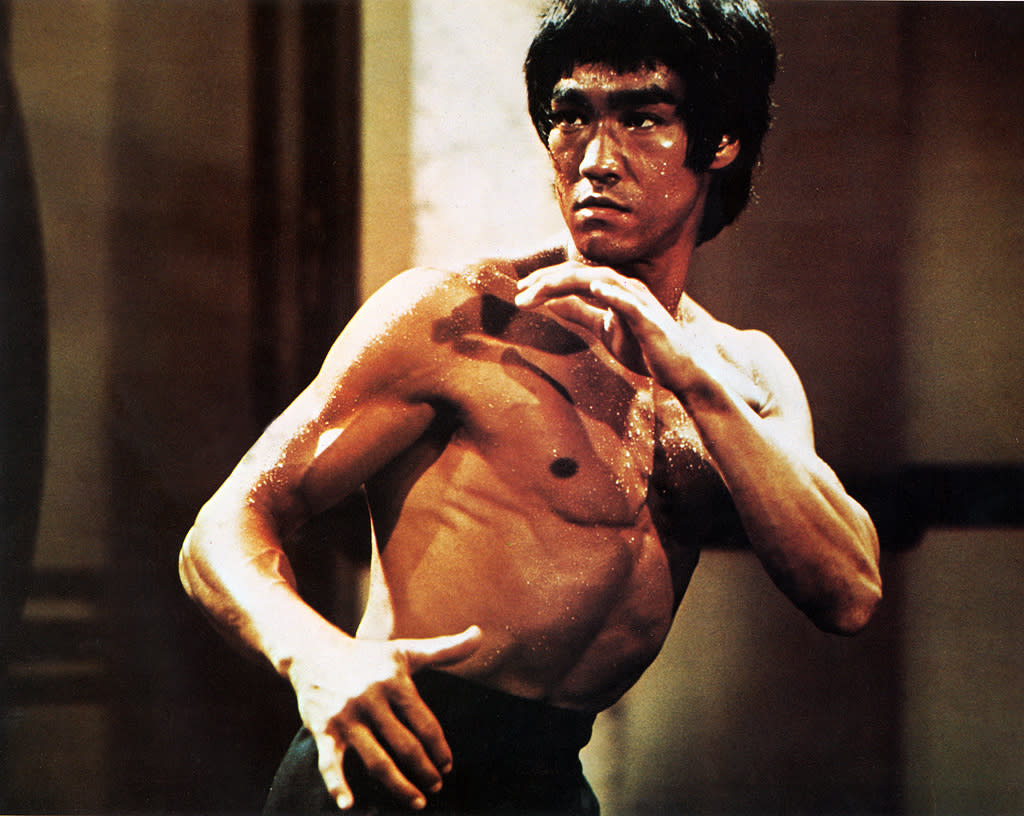 "<a href=""http://movies.yahoo.com/movie/contributor/1800024959"">BRUCE LEE</a> -- <a href=""http://movies.yahoo.com/movie/1800061919/info"">ENTER THE DRAGON</a>   Bruce Lee died just three weeks before his breakout movie opened, killed suddenly by a cerebral edema. ""Enter the Dragon"" proved to be such a hit -- one of the most profitable movies of all time -- and there was such a demand for its departed star that Hong Kong soon started cranking out films with leads named Bruce Li, Bruce Lei, Brute Lee, and Lee Bruce."