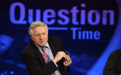 David Dimbleby is to step down from Question Time after 25 years - Credit: Getty
