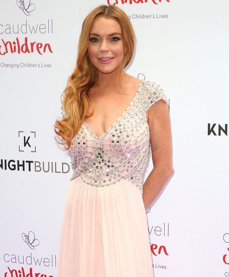 Lindsay Lohan arrives for the 2016 Butterfly Ball at The Grosvenor House Hotel on June 22, 2016 in London, England. (Photo by Danny Martindale/WireImage)