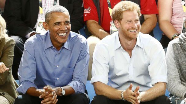 PHOTO: Britain's Prince Harry (R) and former President Barack Obama watch a wheelchair basketball event during the Invictus Games in Toronto, Sept. 29, 2017. (Mark Blinch/Reuters)