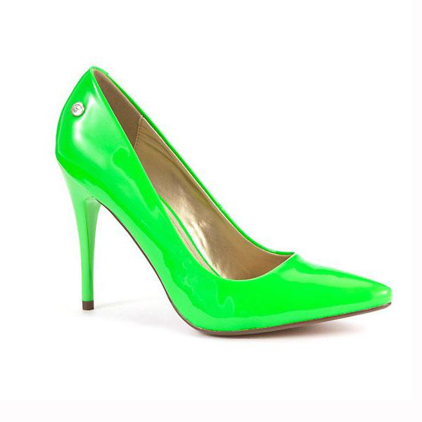 Neon Green Pointed Court Shoe - £34.99 – Blink at New Look