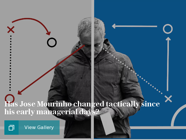 Has Jose Mourinho changed tactically since his early managerial days?