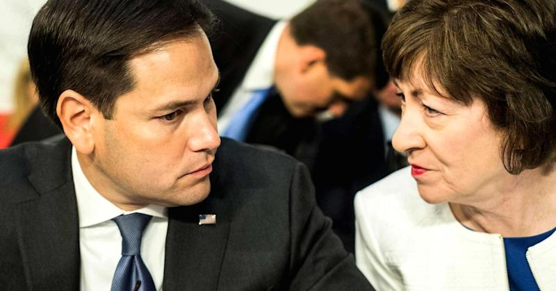 Final votes by Sens. Collins and Rubio on GOP tax bill up in air if their conditions aren't met