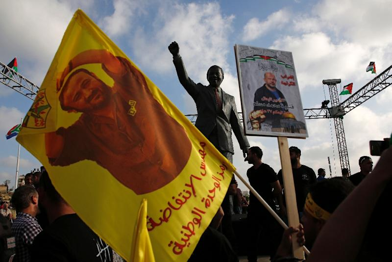 Protests have been held in the occupied West Bank and Gaza in support of hundreds of Palestinian prisoners on hunger strike