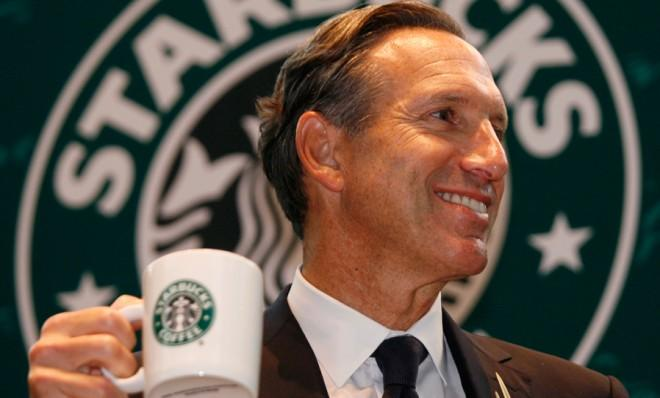 Starbucks Chief Executive Howard Schultz