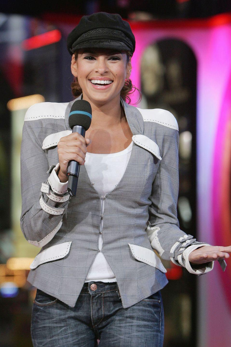 <p>Extra! Extra! Read all about...how Eva Mendes literally turned into a 19th century newsboy during her appearance on <em>TRL </em>in 2005. </p>