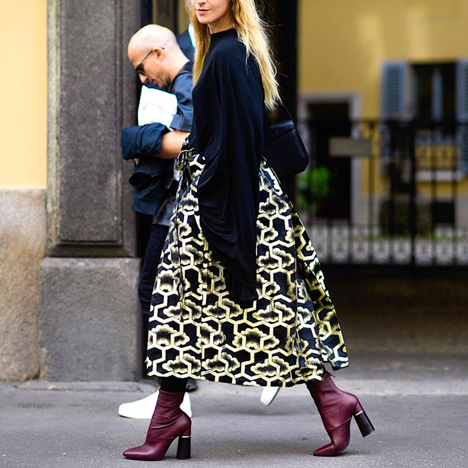<h2>Sock-Style Ankle Boots</h2>                                                                                                                                                                                                                                      <h4>Ada Kokosar in 3.1 Phillip Lim boots. Photo: Adam Katz Sinding.</h4>