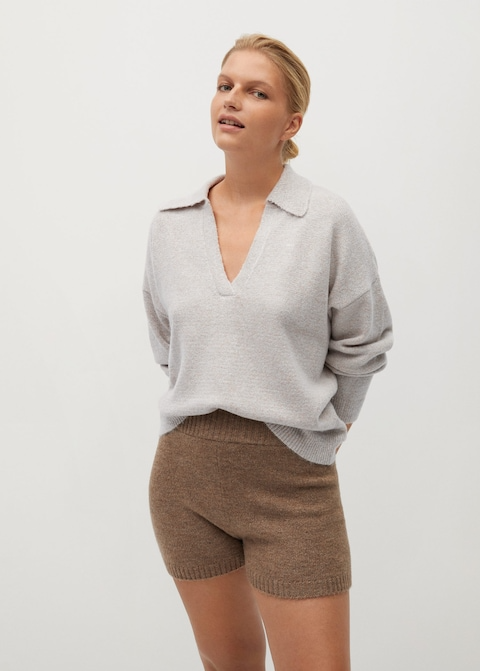 "Ensure your friend group's taking full advantage of peak cozy season with this polo-style sweater that's also <a href=""https://www.refinery29.com/en-us/2020/10/10103365/katie-holmes-fall-sweater"" rel=""nofollow noopener"" target=""_blank"" data-ylk=""slk:Katie Holmes-approved"" class=""link rapid-noclick-resp"">Katie Holmes-approved</a>. <br><br><strong>Violeta By Mango</strong> Polo Style Sweater, $, available at <a href=""https://go.skimresources.com/?id=30283X879131&url=https%3A%2F%2Fshop.mango.com%2Fus%2Fplus-size%2Fsweaters-and-cardigans-sweaters%2Fpolo-style-sweater_77045963.html"" rel=""nofollow noopener"" target=""_blank"" data-ylk=""slk:Mango"" class=""link rapid-noclick-resp"">Mango</a>"