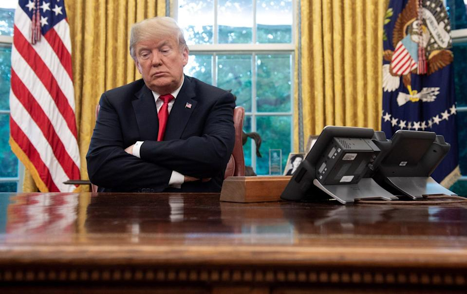 """Sherman criticised President Donald Trump, shown in 2018, for lacking a China policy: """"For the president, everything is a commercial transaction,"""" she told MSNBC. Photo: AFP/Getty Images/TNS"""