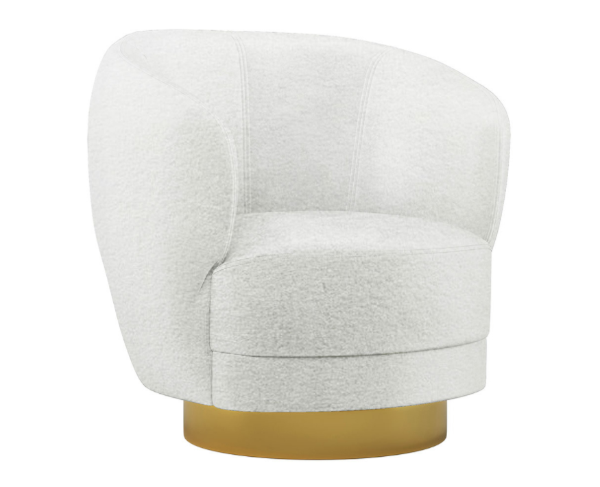 Celestine Boucle Fabric Swivel Accent Chair