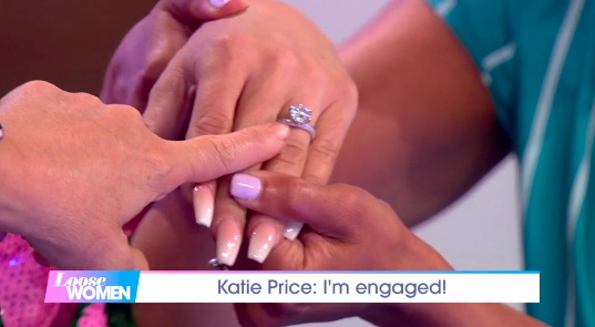Katie Price announced her engagement on Loose Women (Credit: ITV)