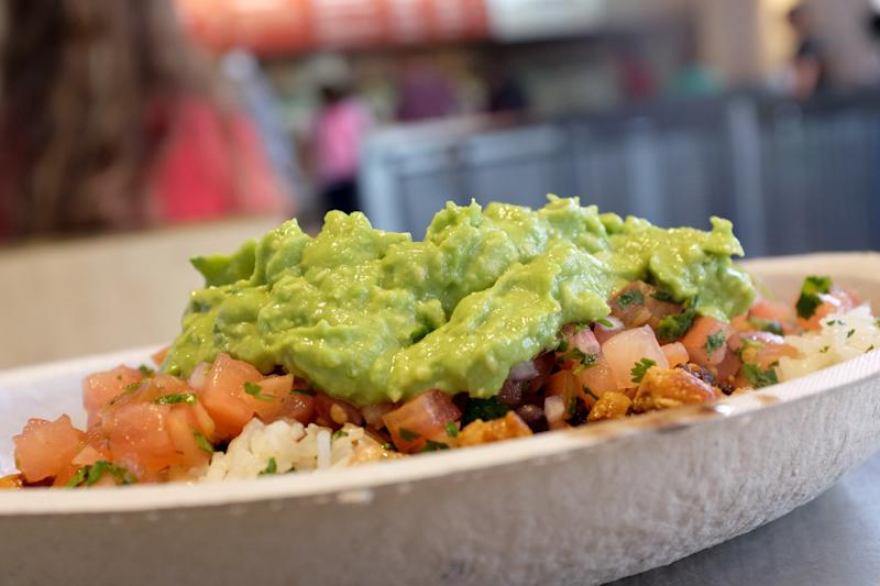 MIAMI, FL - MARCH 05: Guacamole sits on a dish at a Chipotle restaurant on March 5, 2014 in Miami, Florida. The Mexican fast food chain is reported to have tossed around the idea that it would temporarily suspend sales of guacamole due to an increase in food costs. (Photo by Joe Raedle/Getty Images)