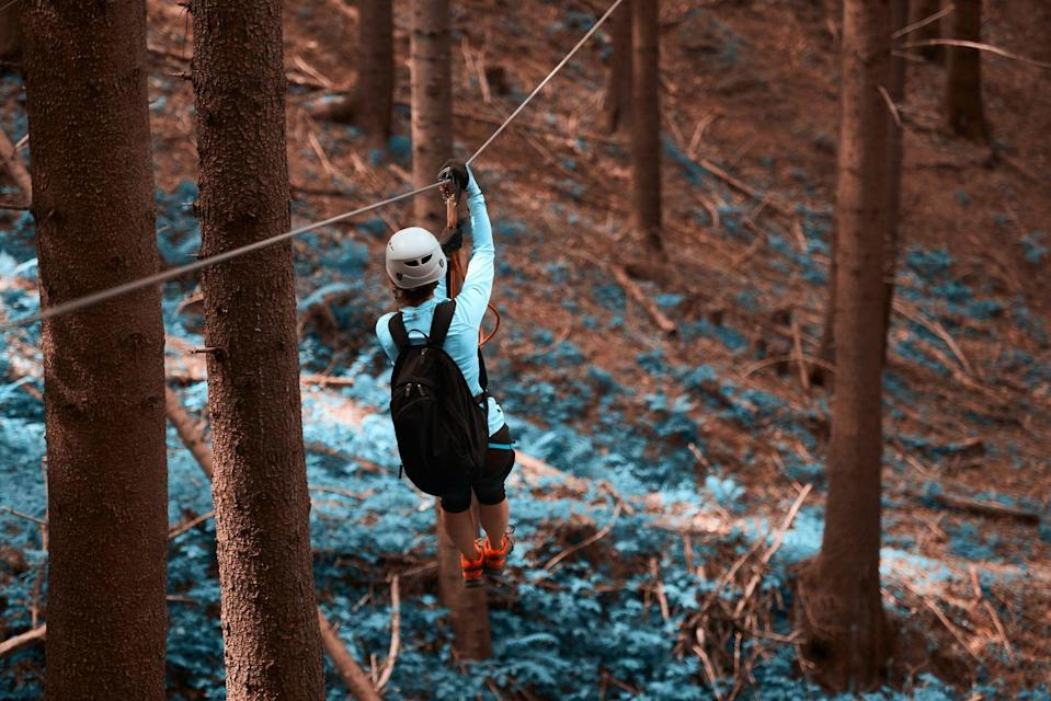 <p>Ziplining is awesome, so there's not much need to drum up a reason, but fall is the perfect excuse to go. Not only is the temperature ideal for what's sure to get your heart-pounding, but you'll also have a gorgeous view of the changing scenery. </p>