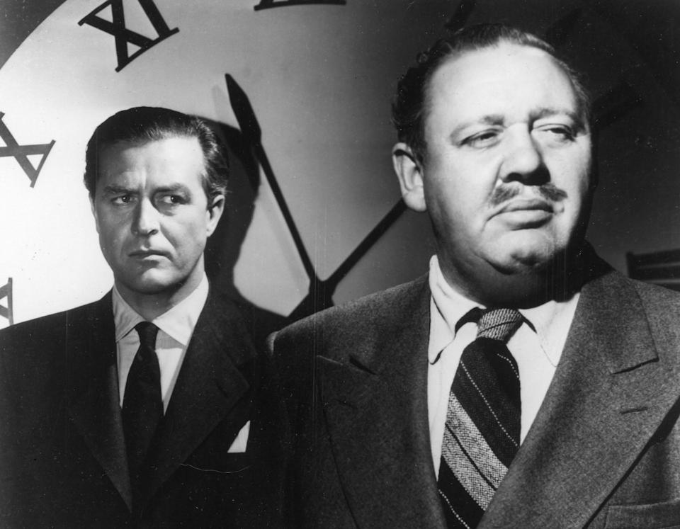 """Ray Milland and Charles Laughton in """"The Big Clock"""""""