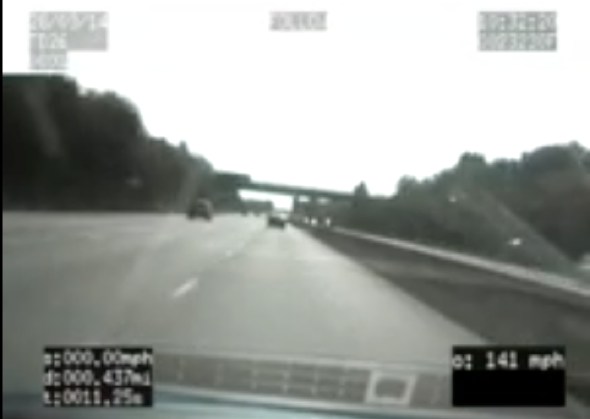 Driver caught going 140mph with child in front seat