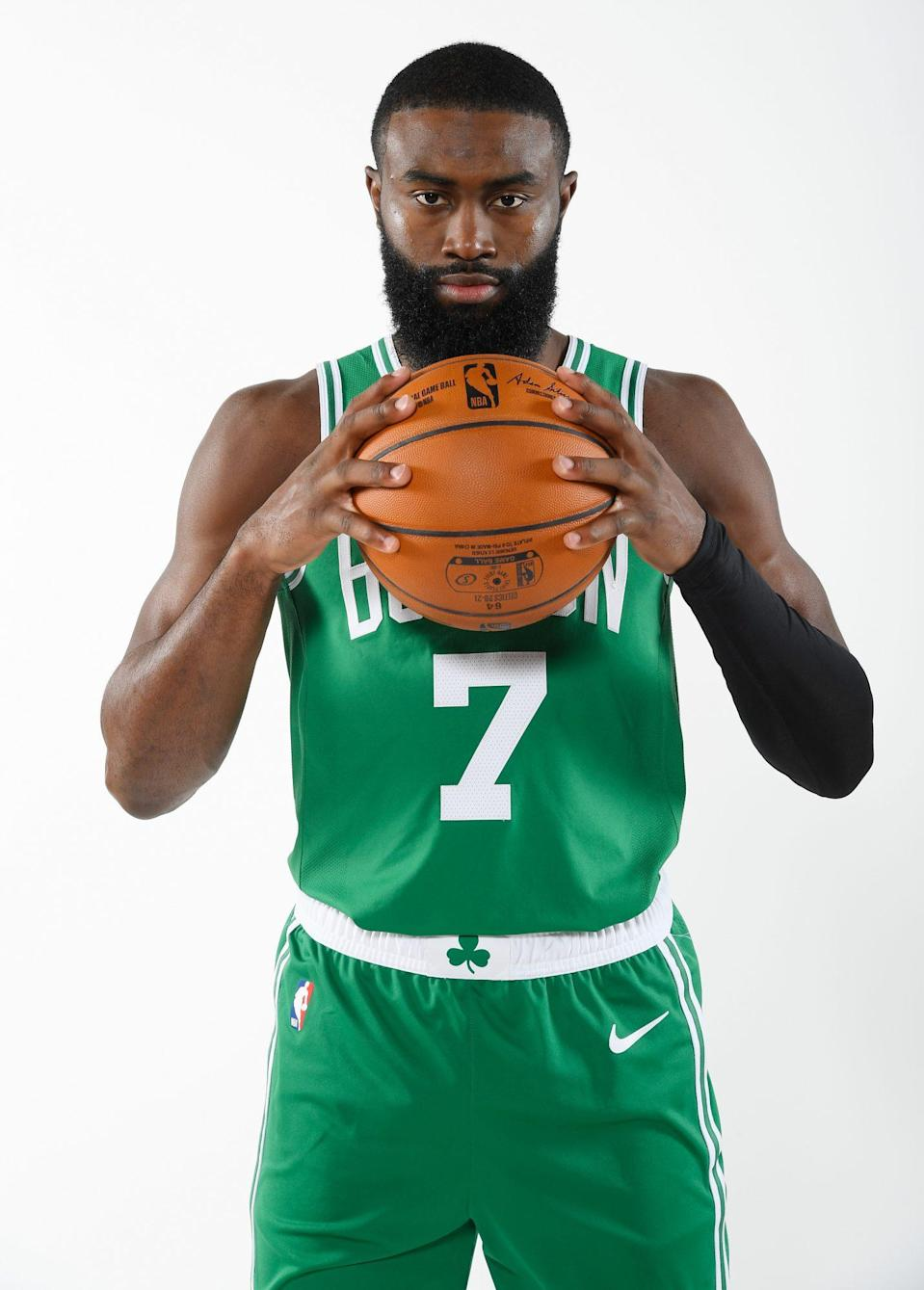 """<p>The Boston Celtics player said of his selection by James, """"To have one of — if not the — best player select you and point out some of the things you've been doing or some of the things he's seen, is great,"""" <a href=""""https://www.boston.com/sports/boston-celtics/2021/03/05/jaylen-brown-honored-by-lebron-james-all-star-selection"""" rel=""""nofollow noopener"""" target=""""_blank"""" data-ylk=""""slk:according to Boston.com."""" class=""""link rapid-noclick-resp"""">according to Boston.com.</a></p>"""