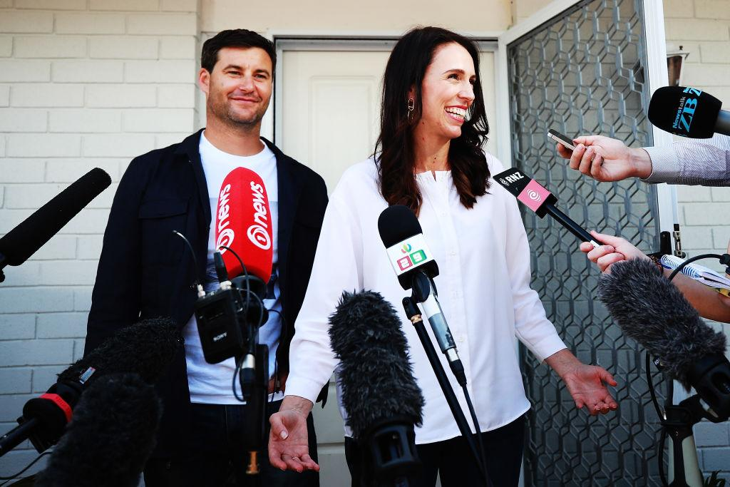 <p>New Zealand Prime Minister Jacinda Ardern and her partner Clarke Gayford are expecting their first child in June 2018, an announcement they made on Friday. Deputy Prime Minister Winston Peters will take on Prime Ministerial duties for six weeks after the baby is born. (Photo: Getty Images) </p>