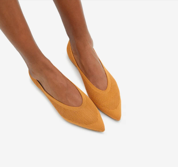 Everlane's new ReKnit 40-Hour Flats are super breathable and lightweight.