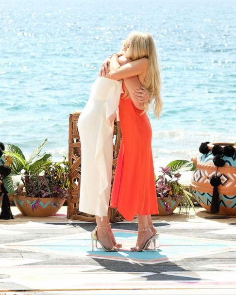 "PHOTO: Kristian Haggerty and Demi Burnett embrace after proposal on""Bachelor in Paradise."" (ABC/John Fleenor)"