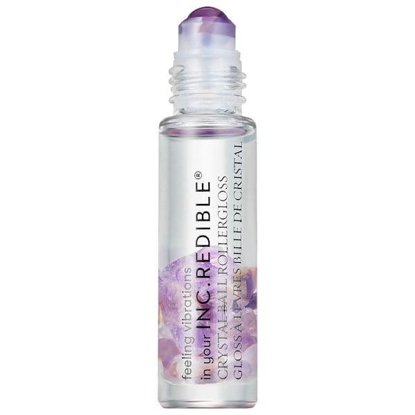 <p>This <span>Inc.redible Crystal Ball Roller Gloss</span> ($8, originally $12) comes packed with rose quartz, amethyst, or aventurine to wake up your chakras as your lips get glossed. </p>