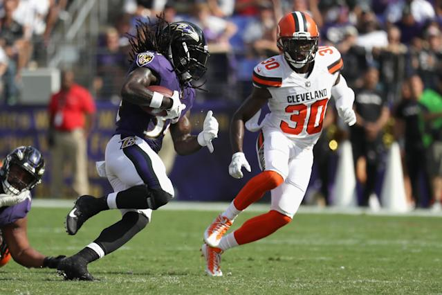 Alex Collins has clearly earned additional carries for the Ravens. (Photo by Rob Carr/Getty Images)
